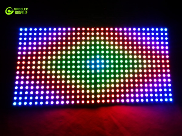 How to use digital led strip to make digital addressable led screen?