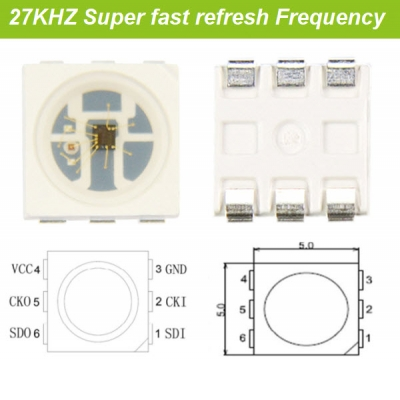 27KHZ frequency intelligent led