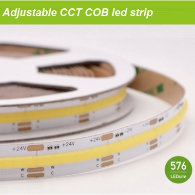 CCT adjustable COB led strip
