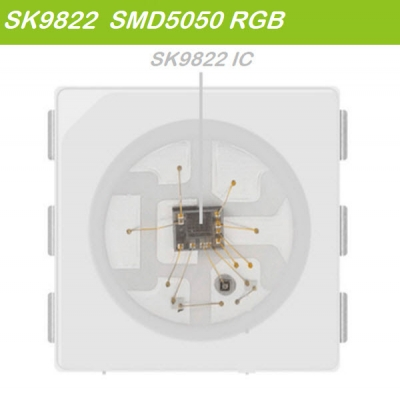 SK9822 Chip buit in colorful led